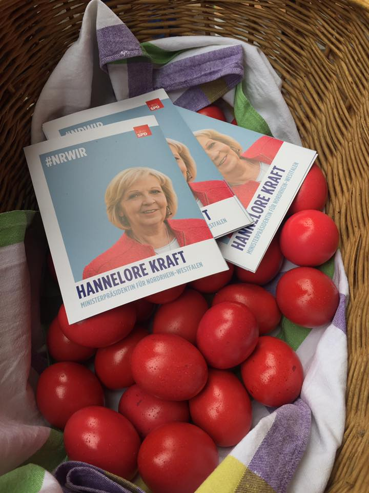 Rote Ostereier für Siegen